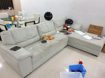 L Shape Sofa cellini brand for free