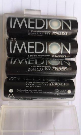 🚚 TOP Rechargeable AA Batteries Imedion