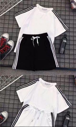 Top + shorts set!