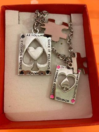 Kalung Couple bentuk Love puzzle