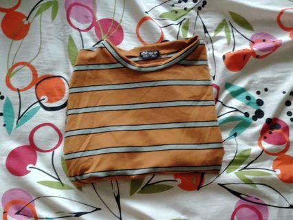Topshop inspired Yellow stripe top