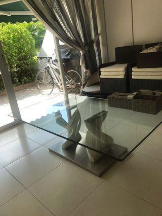 Coffee Table Art Decor White middle leg #EndgameYourExcess