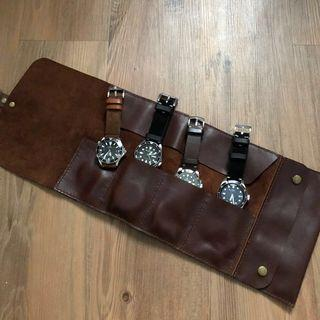 Genuine Leather Watch Roll