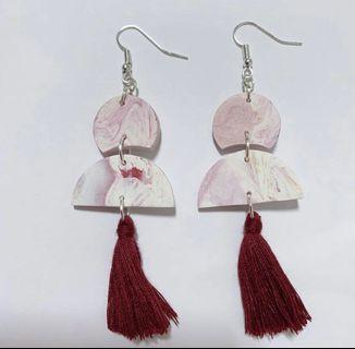 🚚 Polymer clay earrings with tassels