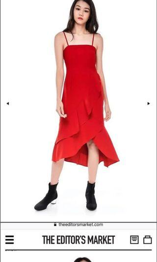 🚚 Editors market red dress