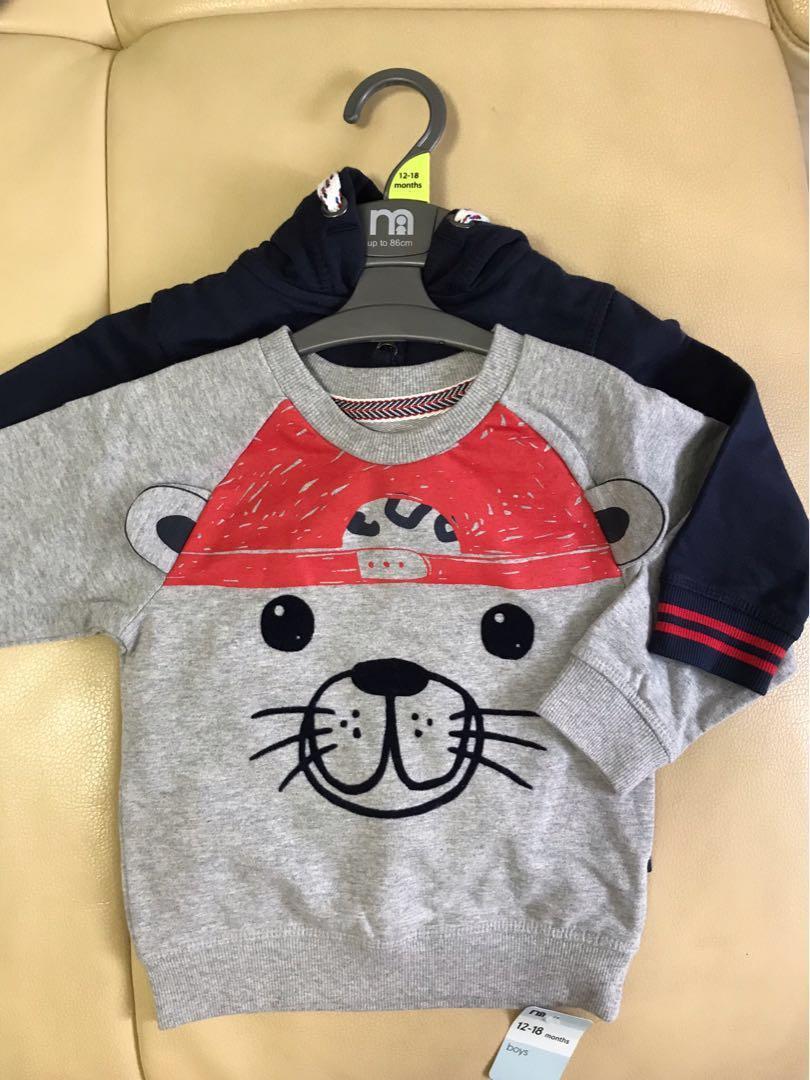 18-24mths Baby boy kid sweater & jacket set