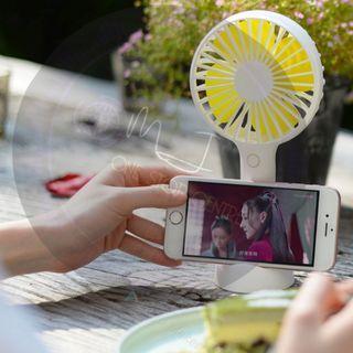 🚚 USB Rechargable Phone Deck Portable Fan