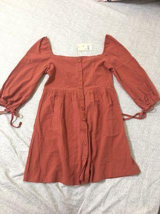 Airspace casual dress Brown New