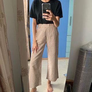 UNIQLO - Checkered Brown Pants