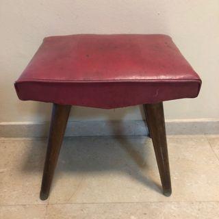 Vintage pencil leg stool 1960-70s