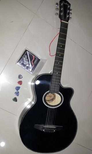 Guitar c/w Nickel Cadmium strings