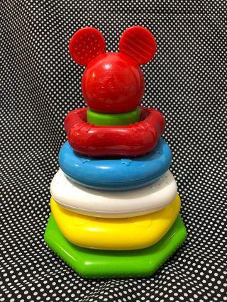 米奇老鼠疊圈圈BB玩具 baby stacking rings toy toys