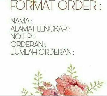 Format Untuk Order