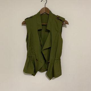 二手-韓國軍綠色外搭背心