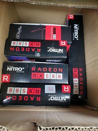 多款Rx 580 顯示卡,有全新及2手,請看內文