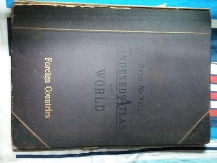 Rand McNally Indexed Atlas of the World - 1896