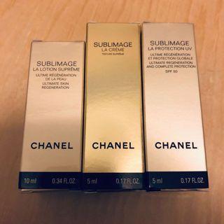 (包平郵)Chanel SUBLIMAGE Samples