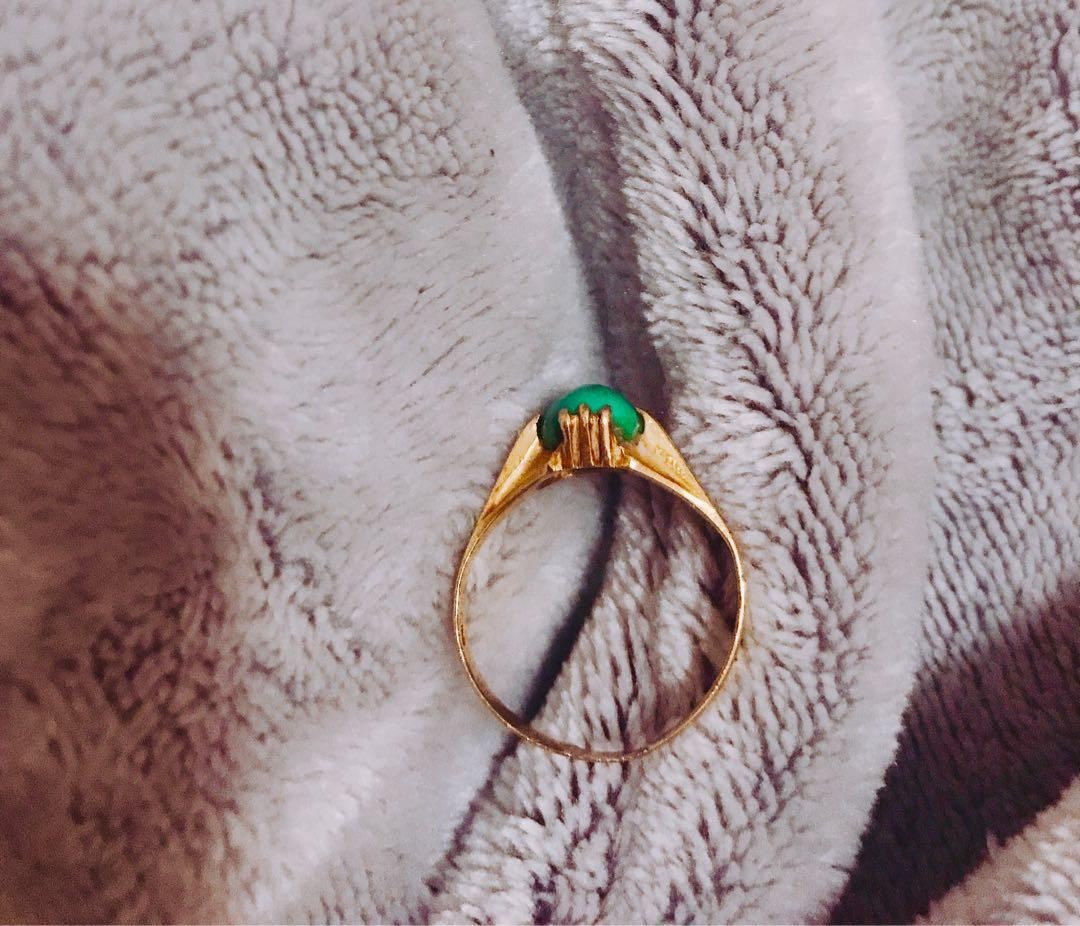 18k solid gold grandma ring over 35 years old handmade
