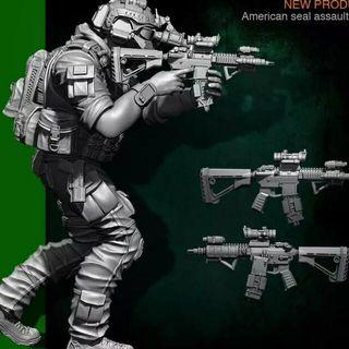 Navy Seal Diorama Set 1/35 Scale Set Includes: 3x Navy Seal Figures And One Battlefield Platform Diorama Base Brand New Available Now