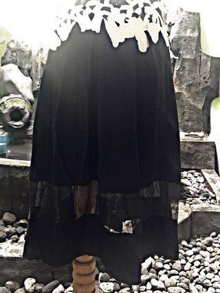Midi Skirt with Organza