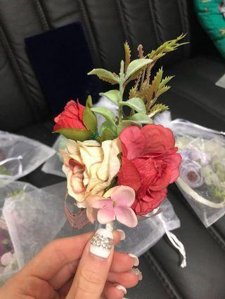 全新 胸花 手花 襟花 頭花 飾品 飾物 褂 結婚 婚禮 wedding 過大禮