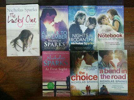 English Novels by Nicholas Sparks