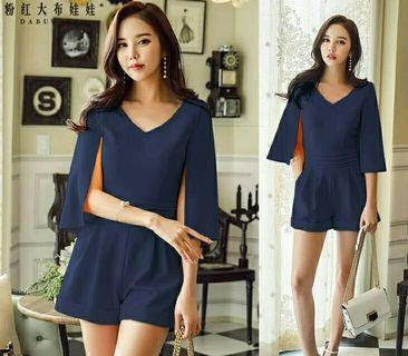 JUMPSUIT CAPE RINA (NAVY)