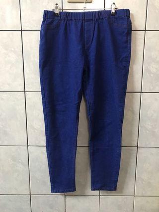 🚚 藍色牛仔長褲2L