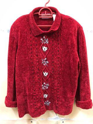 Knitwear Top Red