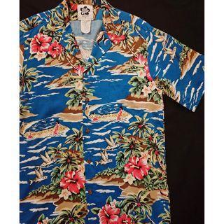 Vintage Aloha Shirt 夏威夷製 美式古著 夏日復古風 洋柄夏威夷襯衫 花襯衫 HAWAII Shirt