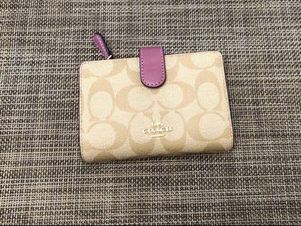 Coach wallet purple