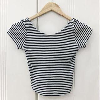 Zara Stripe Crop Top