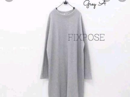 Mididress knit grey