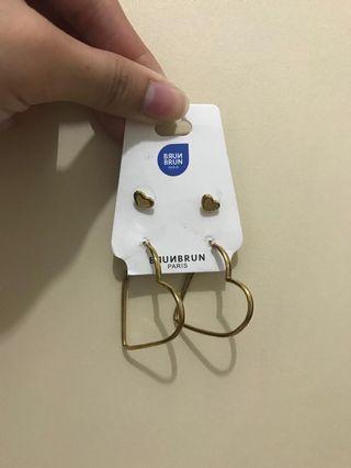 BrunBrun gold earrings