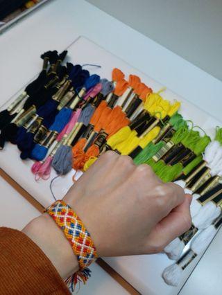 手繩線不同顏色共44條