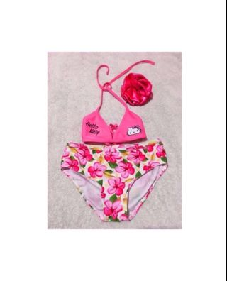 Girls Swim Top Hello Kitty 4t Vguc Fuschia Bathing Suit Top Crazy Price Baby & Toddler Clothing