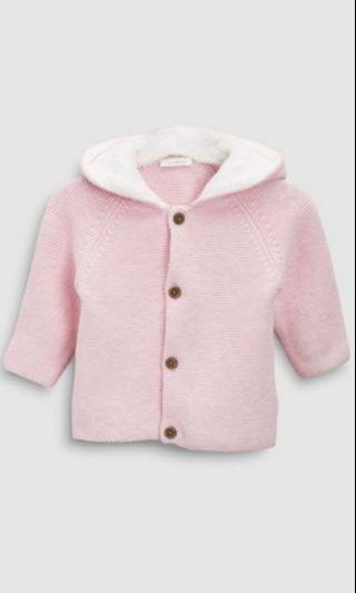🚚 Pink bunny ears cardigan
