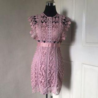SELF-PORTRAIT Daisy Vine Inspired Dress / Pink