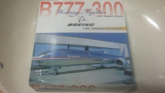 8.9.97 Rollout Ceremony BOEING B777-300 1/400 模型飛機