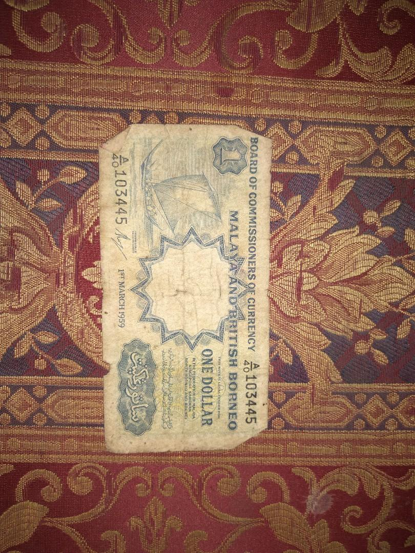1959 Malaya & British Borneo $1 One Dollar