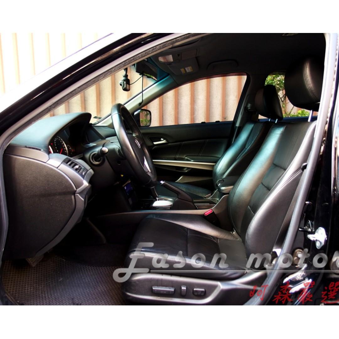 2009年HONDA ACCORD 2.0 黑色~來電享驚喜價  第八代/2.0升直列四缸引擎/五速自排/雙環式儀表板/