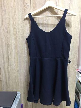 🚚 正韓深藍洋裝