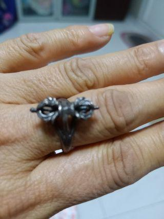 Old silver Ring  weraing for blessing nice carving
