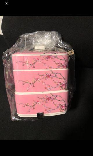 3 tier Tiffin Carrier happiness cherry blossom tingkat container #ENDGAMEyourEXCESS
