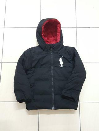 Polo ralph lauren puffer hooded jacket ( size budak)