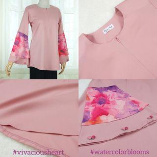 Watercolor Blooms in Peach