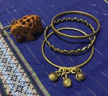 T'boli Handmade Brass Bracelets (Set of 3)