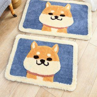 可愛柴犬圖案吸水地墊