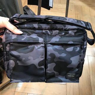 Porter 迷彩斜揹袋(黑灰)