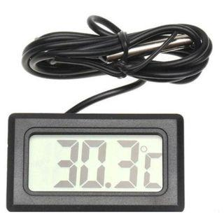 Mini LCD Digital Temperature with probe sensor (Black)